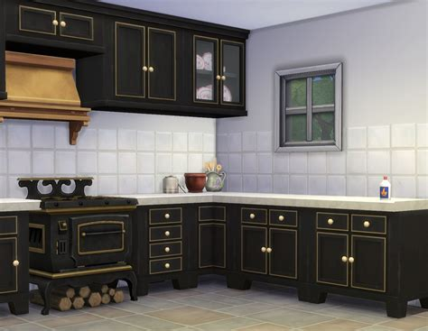 sims  ccs   country kitchen  plasticbox