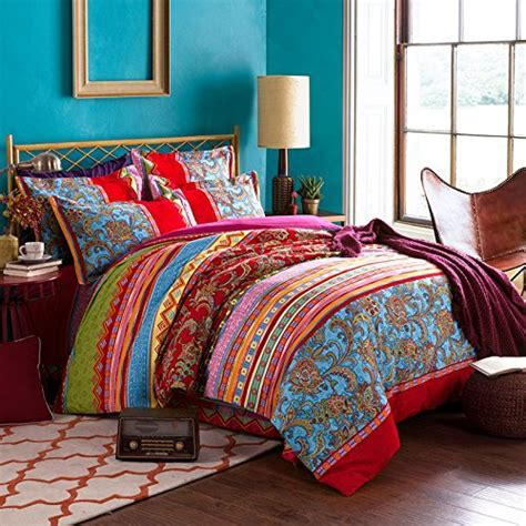 FADFAY Colorful Bohemian Duvet Covers Queen King Size