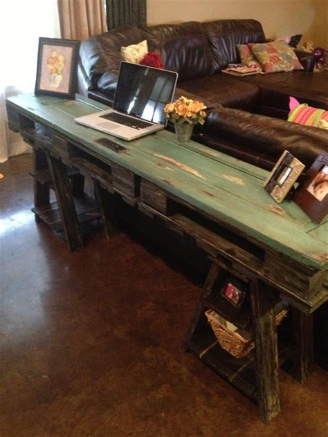 diy reclaimed pallet computer table pallet furniture plans