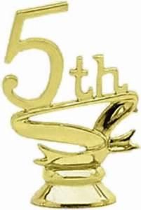 "5th Place 2 1/4"" Trophy Trim Piece | Trophy Trim Dates and ..."