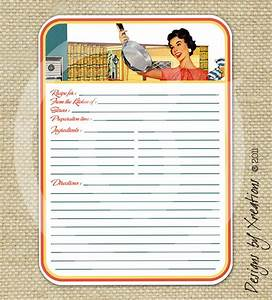 retro blank recipe card digital template 5x7 by pinkpapertrail With 5x7 recipe card template for word