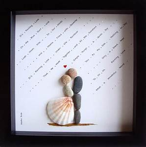 Unique wedding gift customized wedding gift pebble art for Wedding gift ideas pinterest