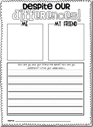 great freebie for acknowledging differences between