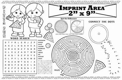 Pizza Restaurant Placemat Fun Coloring Imprintable Books