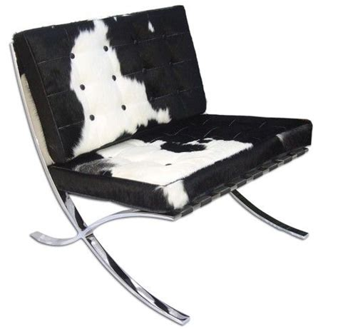 Cowhide Barcelona Chair by Pavilion Cow Hide Chair For The Home Barcelona Chair
