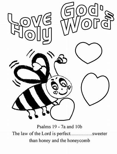 Coloring Pages Word God Jesus Bug Bible
