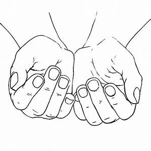 Cupped Female Hands Coloring Pages | Best Place to Color