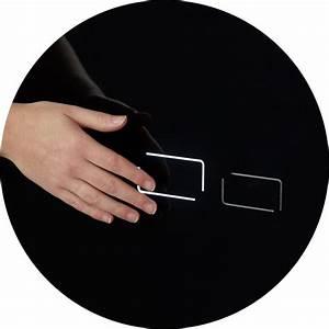 Support Verre Suspendu : vente b ti support wc en verre noir plaque de d clenchement sensitive ~ Teatrodelosmanantiales.com Idées de Décoration
