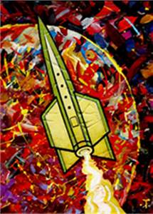 Peter Thorpe Design and Illustration - Rocket Paintings page 1