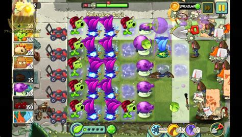 plants vs zombies 2 modern day day 2 walkthrough