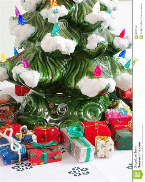 ceramic holiday gifts ceramic tree gifts stock photo image 47567941