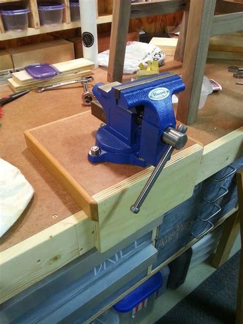 workbench vise  mount bushwoodworkingcom