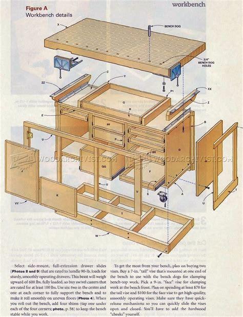 rock solid workbench plans woodarchivist