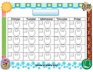 letter d worksheets behaviour chart worksheets and With smiley face behavior chart template