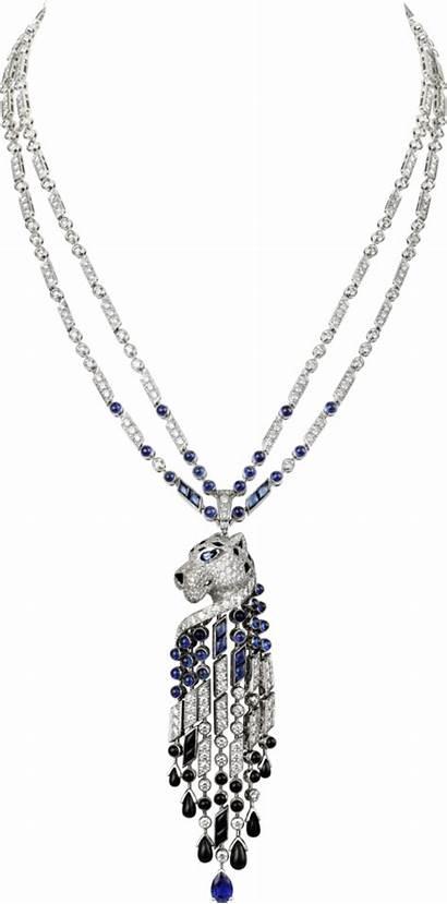 Cartier Necklace Jewelry Diamond Platinum Panthere Necklaces