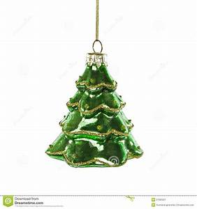 Green Christmas Tree Toy On White Background Stock Image ...