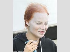 Margot Robbie is unrecognisable in full makeup in London