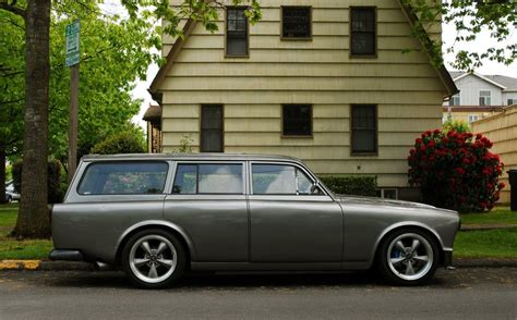parked cars badgeless  volvo  station wagon