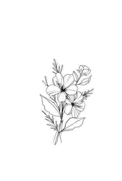 Trendy Flowers Drawing Tumblr Simple Ideas #drawing #flowers | Beautiful flower drawings, Flower