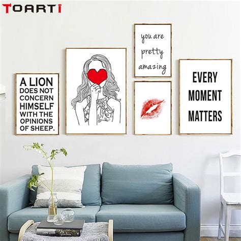 home decor wall posters aliexpress buy simple quotes on