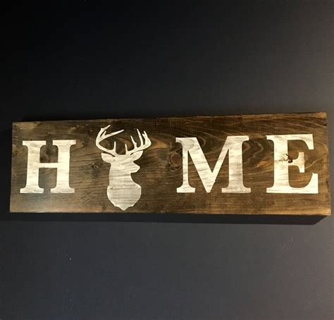 hunting home decorantler artrustic home decordeer wood