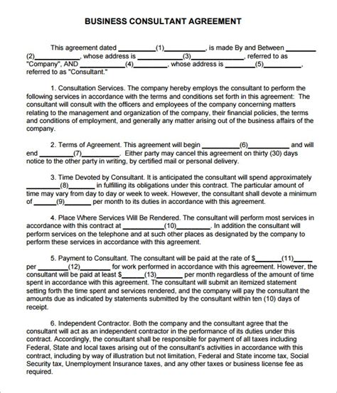 sample consulting agreement templates  google