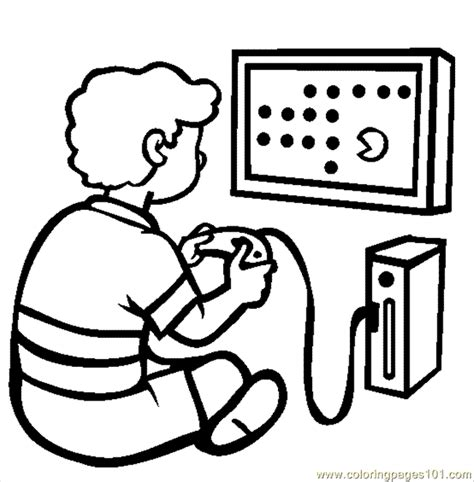video game console coloring page  games