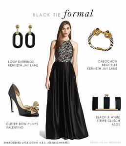 black tie formal gown With jewelry to wear with black dress for wedding