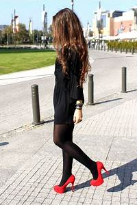 Red Heels Black Dresses | u0026quot;Never give upu0026quot; by Irja | Chictopia