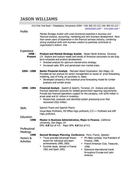 How To Write A Professional Cv Sles by Resumes Sle Cv Professional Profile Customer Service