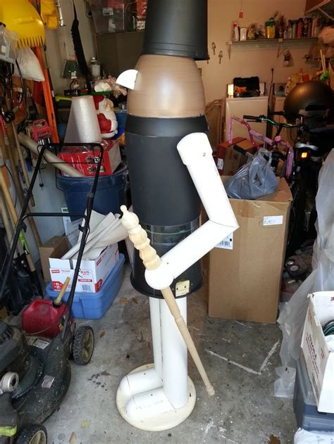 christmas soldier steps to drawyard sign diy lifesize nutcracker on a budget pots planters and pvc ideas