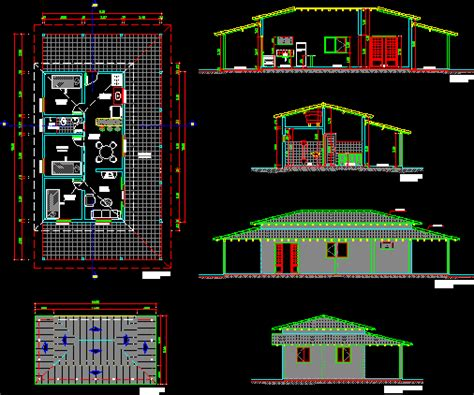 rustic house dwg section  autocad designs cad