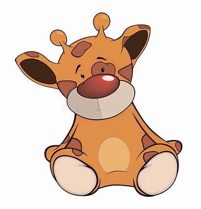 Giraffe Cartoon Toy Stuffed Yellow Brown Darling