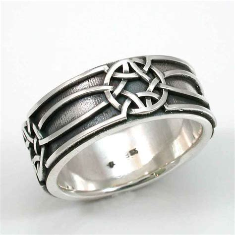 Mens Silver Ring Celtic Knot Oxidized Sterling Handmade. Realistic Rings. Puzzle Rings. Synthetic Diamond Wedding Rings. Ranka Engagement Rings. 3 Person Rings. Herkimer Diamond Wedding Rings. Weird Men Engagement Rings. Symmetrical Engagement Rings