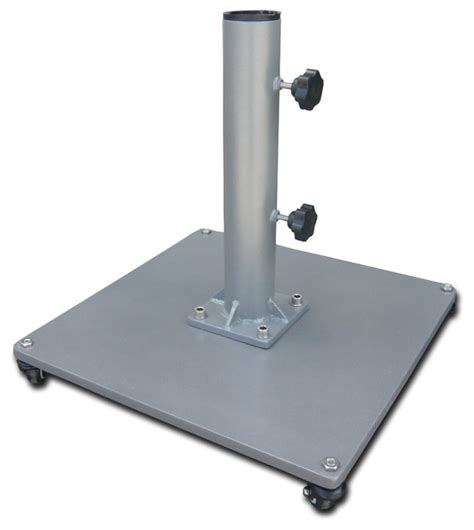 50 lb low profile steel umbrella stand grey stand with