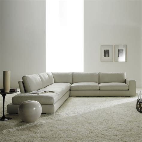 Contemporary Leather Corner Sofas by Relax Contemporary Italian Corner Sofa In Leather
