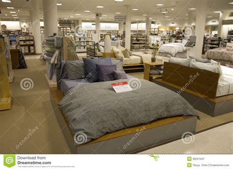 bedding and home goods department store stock image