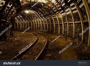 Modern Coal Mine Passageway In Modern Coal Mine With ...