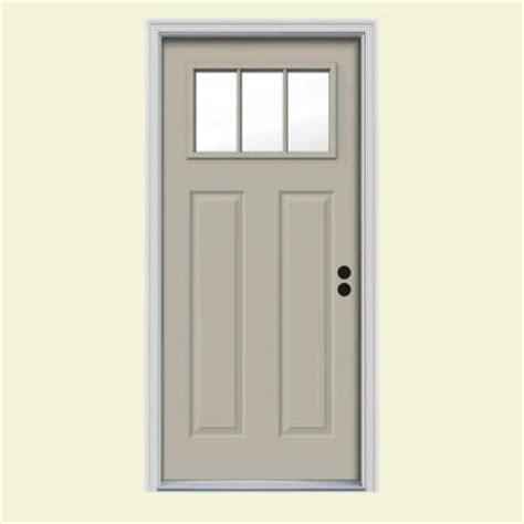 home depot craftsman door jeld wen craftsman 3 lite painted steel prehung front door