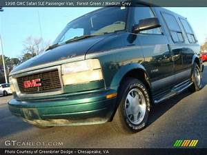 Forest Green - 1998 Gmc Safari Sle Passenger Van - Medium Grey Interior
