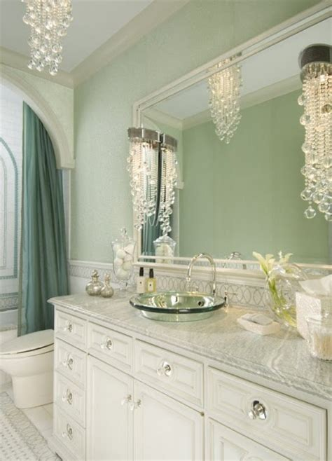 Light Green Bathrooms by Light Green And White Bath Lovehouse