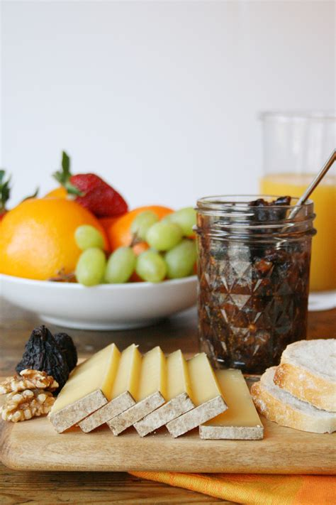 breakfast spread  comte fig  walnut jam bread  fruit recipe relish