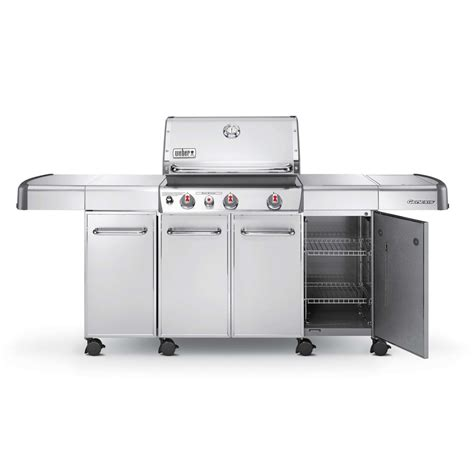 Outdoor Kitchen Island Kits - weber genesis island cabinetry for genesis s 300 series gas grills stainless steel bbq guys