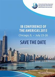 ib conference of the americas 2015 save the date chicago With conference save the date template
