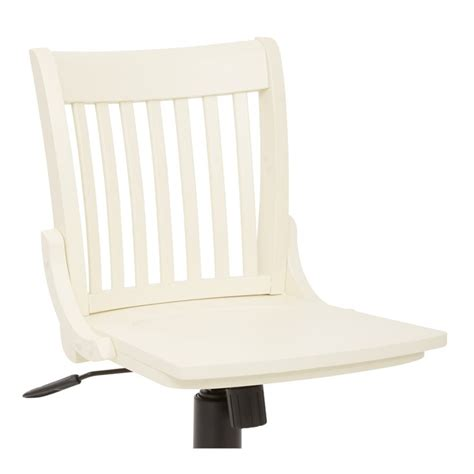 armless wood banker s office chair in antique white 101anw