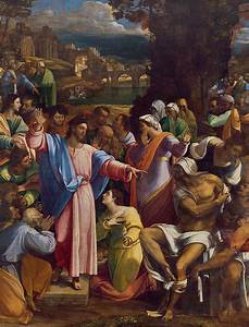 The Raising Of Lazarus Painting by Sebastiano del Piombo