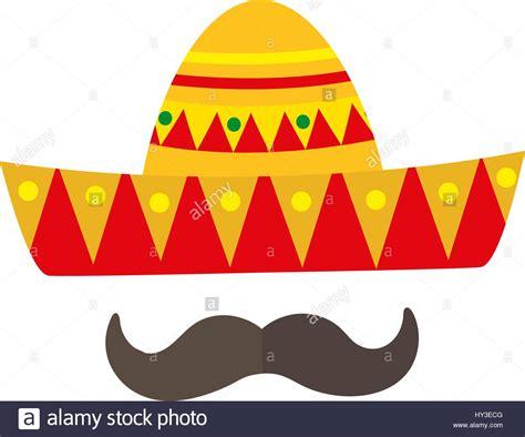 Sombrero Clip Sombrero Icon Flat Style Mexican Traditional Clothing