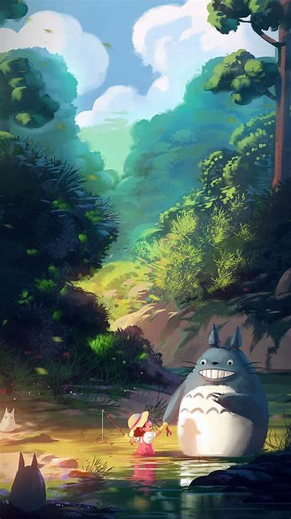 Totoro Iphone Anime Illustration Liang Xing Wallpapers