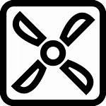 Fan Outline Ventilador Icono Gratis Quadratischer Umriss