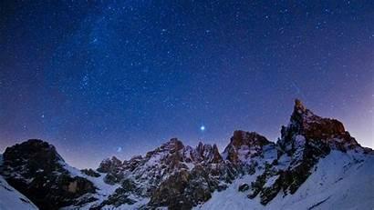 Sky Night Background Stars Winter Laptop Wallpapers